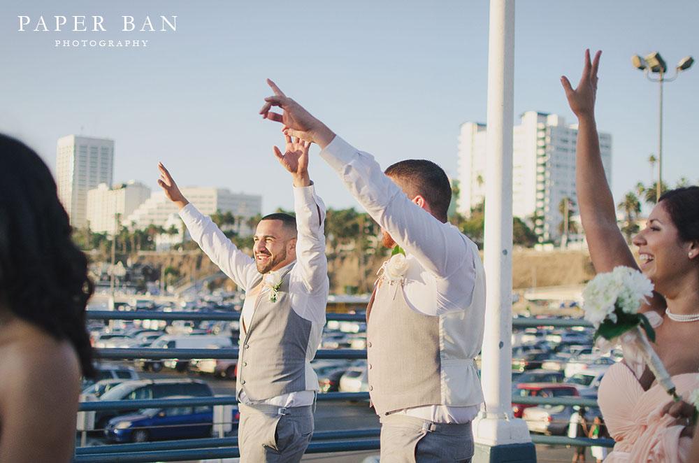 Los Angeles Santa Monica Pier Wedding