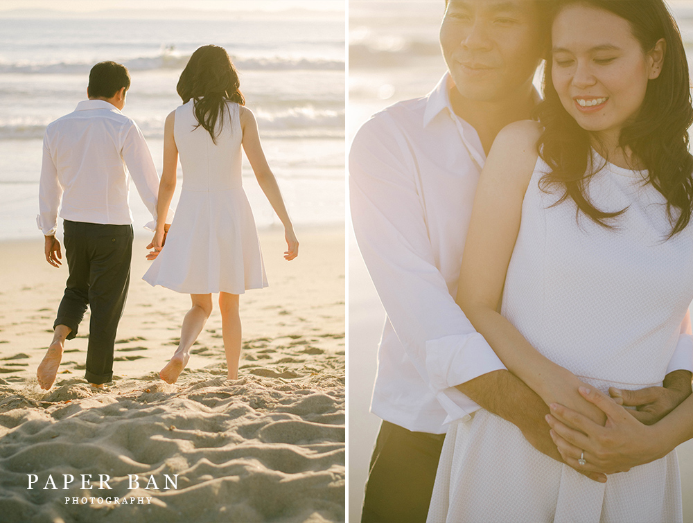 Paper Ban Photography Engagement Portraits Huntington Beach
