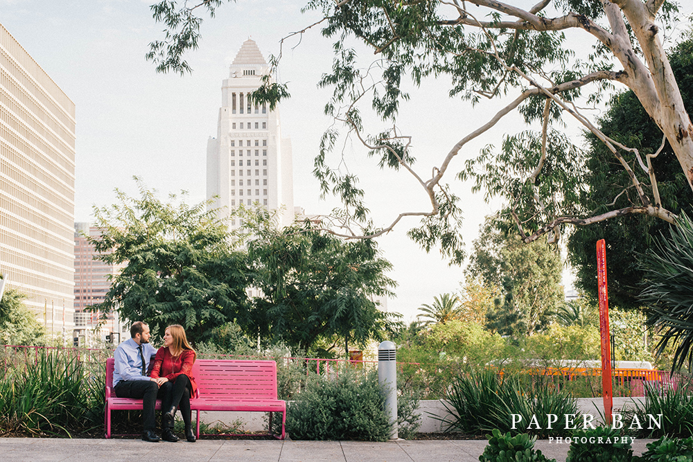 Los Angeles Downtown Engagement Photography