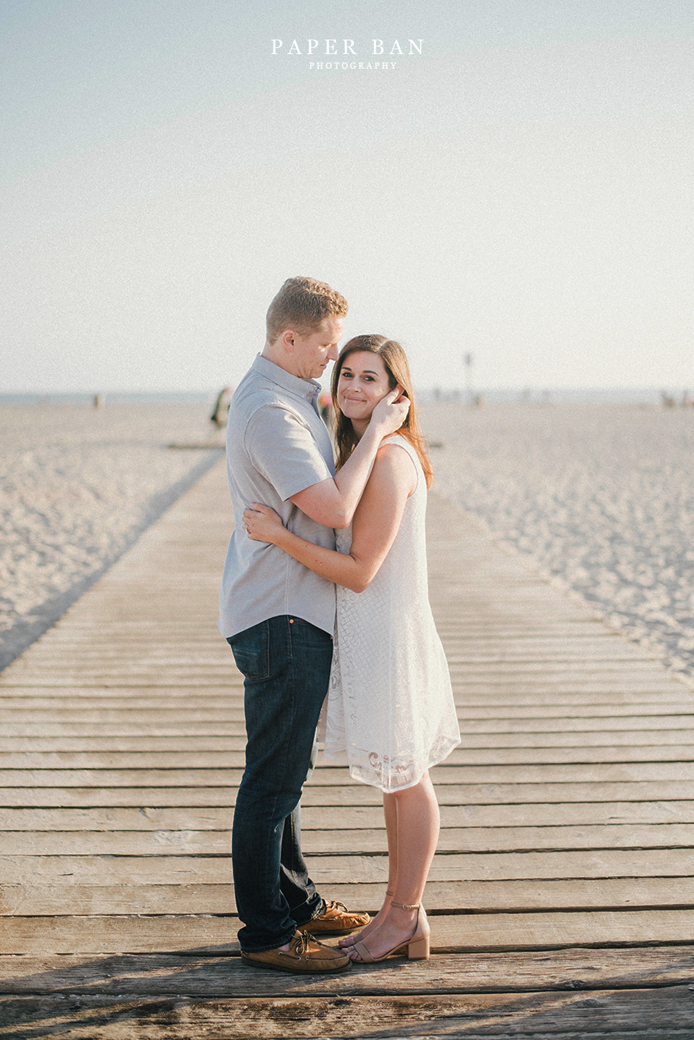 Los Angeles Santa Monica Beach Engagement Portraits