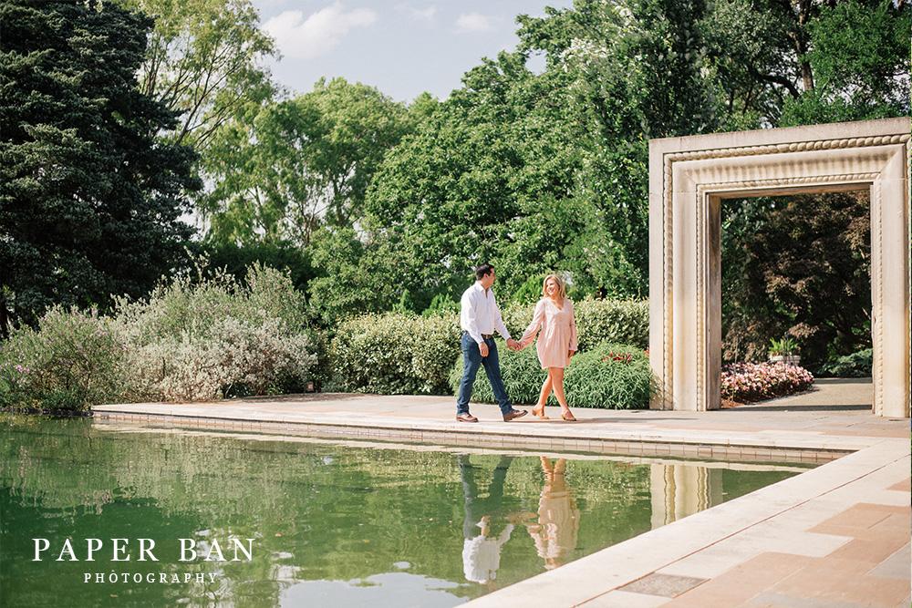 Dallas Arboretum Engagement Photograph